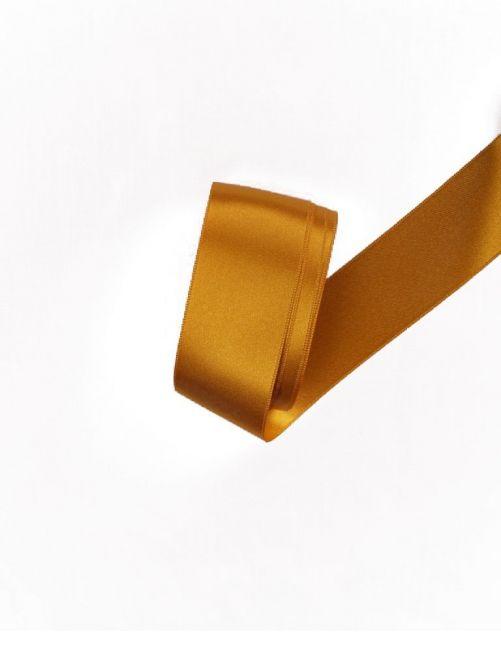 Satijnlint 38 mm goud 3 meter