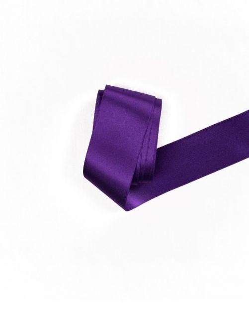 Satijnlint 38 mm paars 3 meter