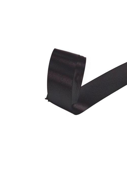 Satijnlint 38 mm zwart 3 meter