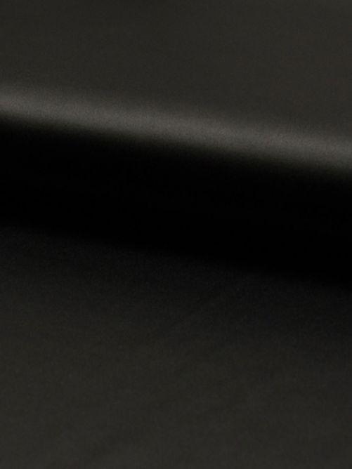 Stretch satijn zwart