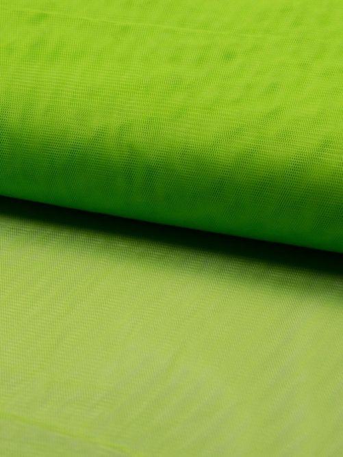 Tule stretch lime groen