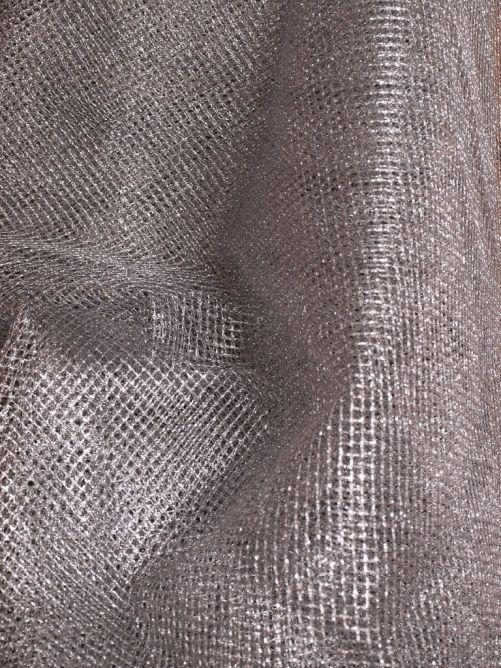 tule metalic zilver
