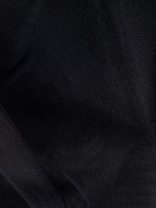 tule zwart