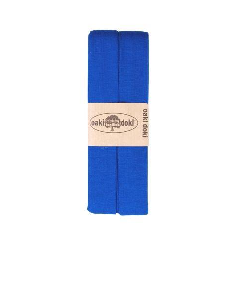 Oaki Doki elastisch biaisband jersey blauw kleurcode 240