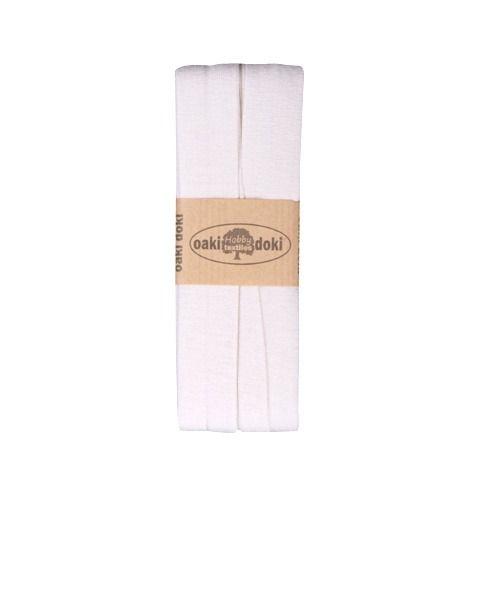 Oaki Doki biaisband elastisch gebroken wit 320