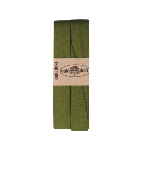 Oaki Doki elastisch biaisband jersey mosgroen 430
