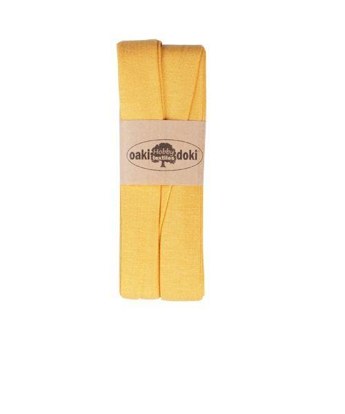 Elastisch biaisband Oaki Doki geel kleurcode 711