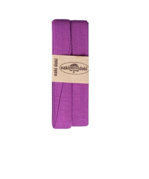 Elastisch biaisband Oaki Doki violet kleurcode 820